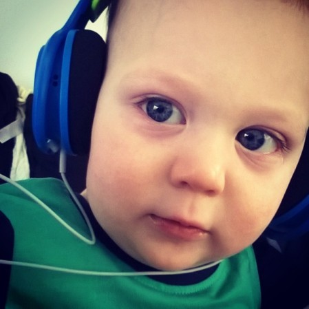 We are doing headphone reviews next week and my little boy is helping out
